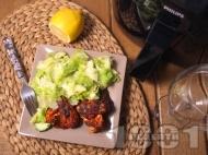 Рецепта Пържени пилешки крилца без мазнина с хрупкава коричка и билки в AirFryer